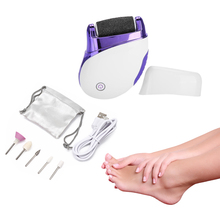 Electric Foot File Care Tool Feet Hard Dead Skin Removal Battery Power Foot USB Exfoliator Heel Callus Remover Pedicure Device