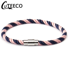 CUTEECO European Navy Style Handmade Weaving Rope Bracelets For Women Charm Girl Wishing Punk Bracelet 2019 New Fashion Jewelry