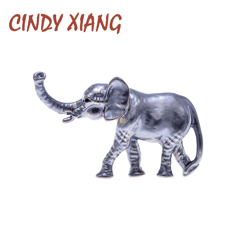 CINDY XIANG 3Colors Avaible Elegant Enamel Elephant Brooches For Women Animal Pin Fashion Jewelry Cartoon Accessories Gift