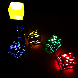 Image 4 - 2019 Hot Game Light Up Redstone Ore Square Toy Night light LED Action Toy Figure Light Up Diamond Ore Kids Gifts Toys