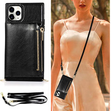 Luxury Leather Wallet Strap Cord Crossbody Phone Case For iPhone 7 8 6S 6 Plus 11 Pro Max XR X XS MAX houlder Lanyard Cover