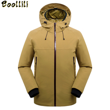 Russia Winter Jacket Men Windproof Waterproof Camouflage men #8217 s down jacket -30 degree Thick Warm Winter Coat Men Outerwear cheap Loose 9106 Casual zipper Full 3D Print Wave Cut Epaulet Zippers Thick (Winter) Broadcloth Acetate Polyester White duck down