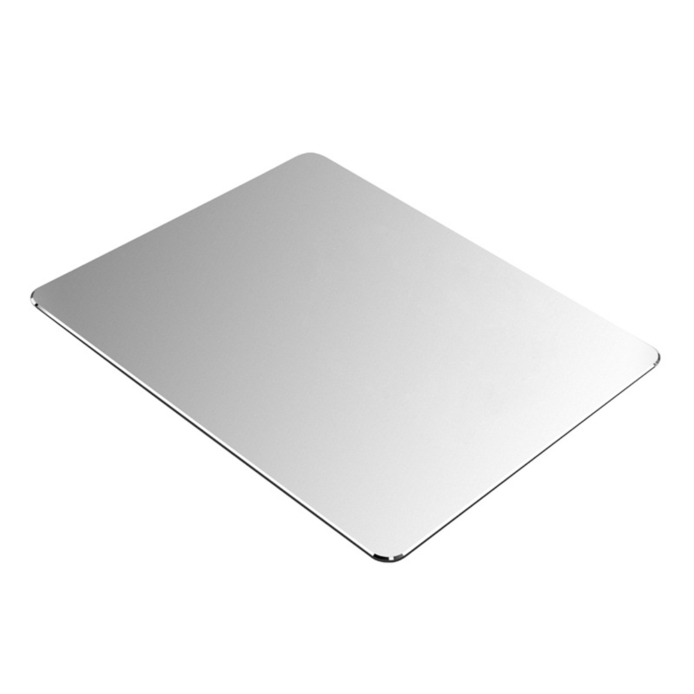 Metal Aluminum Mouse Pad Mat Hard Smooth Magic Thin Mousead Double Side Waterproof Fast And Accurate Control For Office Home
