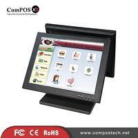 Best Selling Dual Screen Restaurant Touch Screen Monitor Touch Pos System Display TM1501D