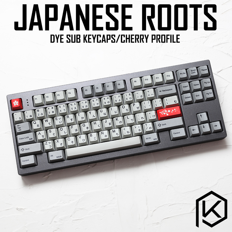 Kprepublic 139 Japanese Root Japan Black Font Language Cherry Profile Dye Sub Keycap PBT For Gh60 Xd60 Xd84 Cospad Tada68 87 104