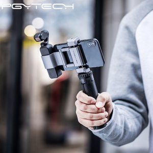 Image 3 - PGYTECH T2 elastyczny Tirpod do kamera sportowa Osmo kieszonkowy GoPro Insta360 kąt regulowany uchwyt statyw stojak