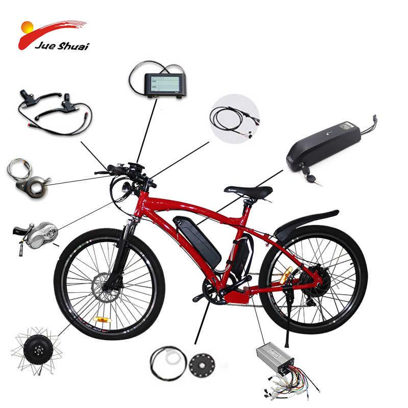 """36V15AH электрический велосипед комплект для 20 """"26"""" 700C 36 в 500 Вт колесный мотор Аккумулятор для чайника светодиодный ЖК-дисплей Ebike e велосипед электрический велосипед конверсионный комплект"""