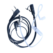 Air Acoustic Tube Earpiece for Baofeng Walkie Talkie Portable Radio Accessories 2 Pin PTT Headset Microphone for BF-888S UV-5R