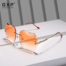 GXP MARCA PROJETO 2020 Nova Moda Óculos de Sol Óculos de proteção UV dos óculos de Sol Sem Aro Óculos Para As Mulheres Lente Gradiente Rosa 8006