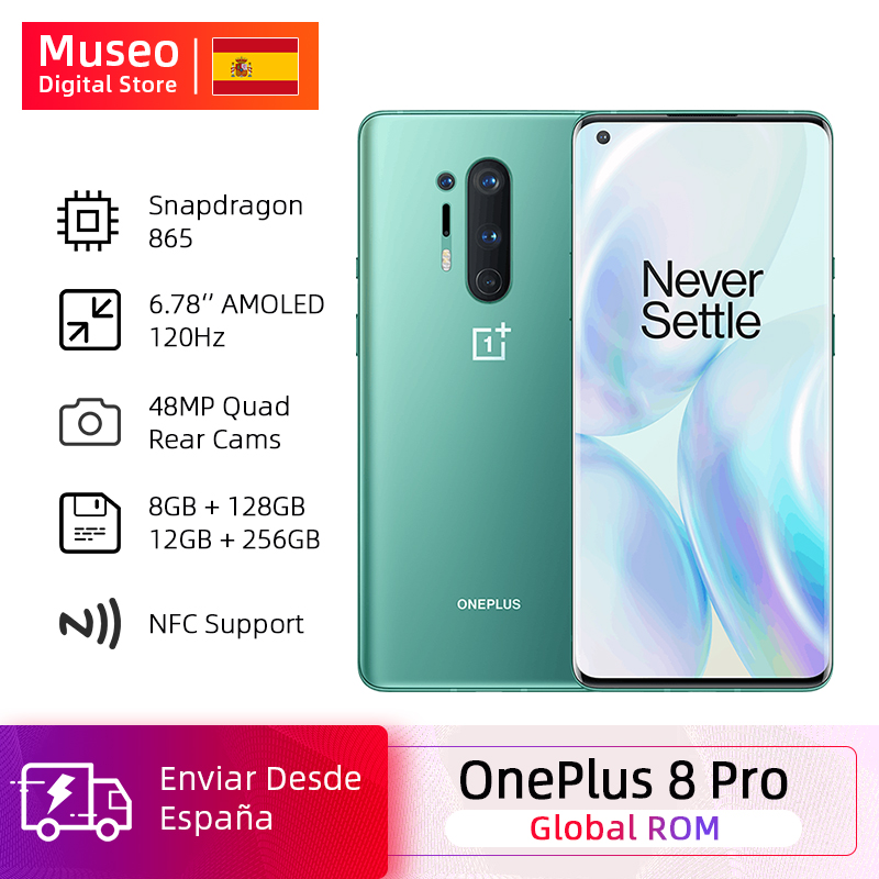 Global Rom Oneplus 8 Pro 5G Smartphone Snapdragon 865 6.87'' 120Hz Fluid Display 48MP Quad Cameras IP68 30W Wireless Charging