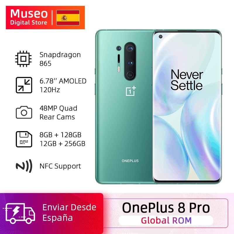 Global Rom Oneplus 8 Pro 5G Smartphone Snapdragon 865 6.87'' 120Hz Fluid Display 48MP Quad Cameras IP68 30W Wireless Charging