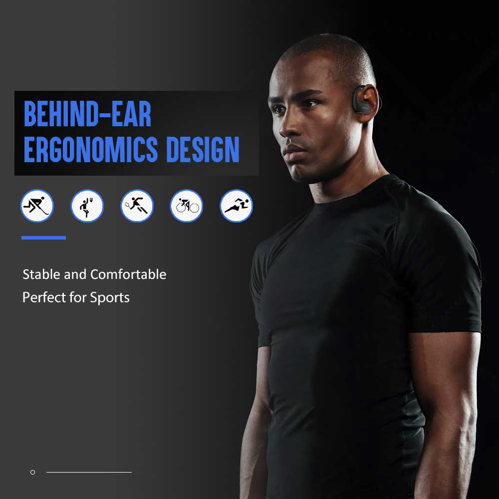 DACOM L05 auriculares Bluetooth graves IPX7 auriculares inalámbricos impermeables auriculares deportivos Bluetooth con micrófono para iPhone Samsung Xiaomi