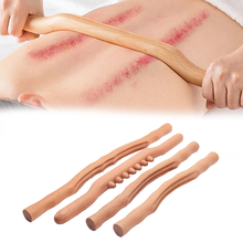 Sha-Stick Back-Scraping-Tool Body-Massage Wood Spine-Care Gua Meridian Dredge Knead 4units