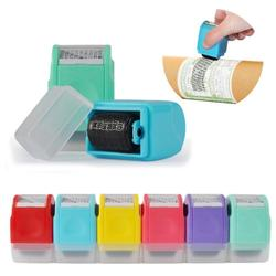1Pcs New Confidentiality Roller Stamp Messy Code Privacy Information Stamp Security Theft Identity Guard ID Roll