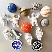 Refrigerator Magnet Astronaut Planet Magnetic Sticker Cartoon Resin Magnet Message Stickers for Kitchen Home Decoration
