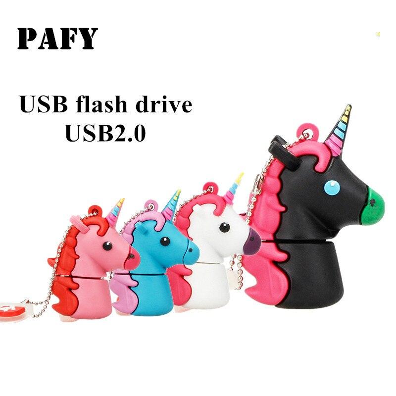 Pendrive Unicorn Usb Flash Drive Cartoon Usb Stick 4GB 8GB 16GB 32GB 64GB 128GB Flash Memory Animal Free Custom Logo & Delivery
