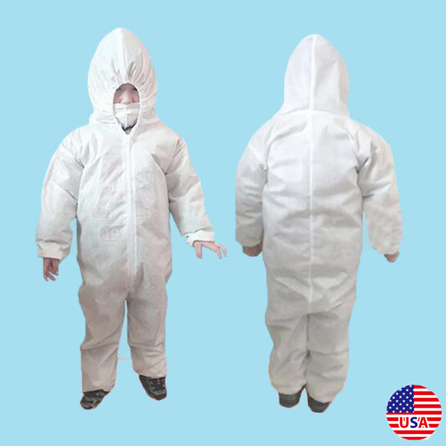 Anti-virus PPE Baby Kids Safety Clothing Dust Suit Disposable Overall Protection Clothing Fast Shipping 1
