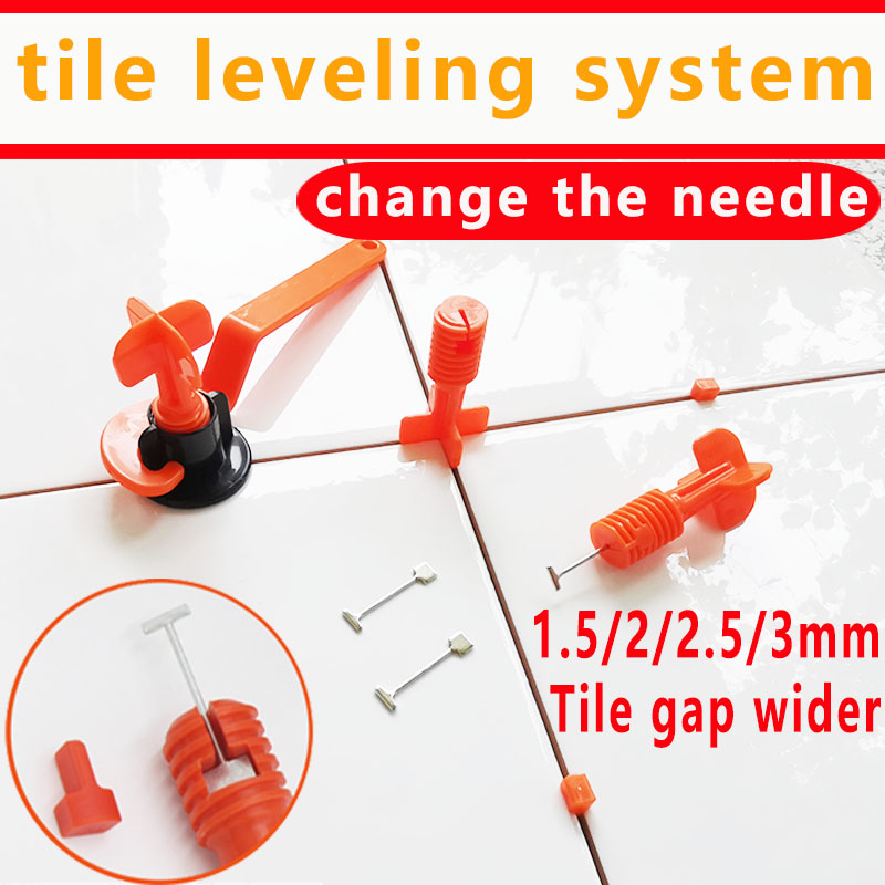 Mini Level Wedges Alignment Tile Spacer For Floor Wall Tile Leveling System Locator Spacer Plier With Replaceable Steel Needles