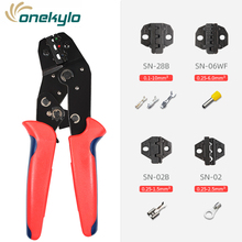 Tool set crimping pliers wire stripping and 4 jaw SN-28B/SN-06WF/SN-02B/SN-02 for various terminals tools kit
