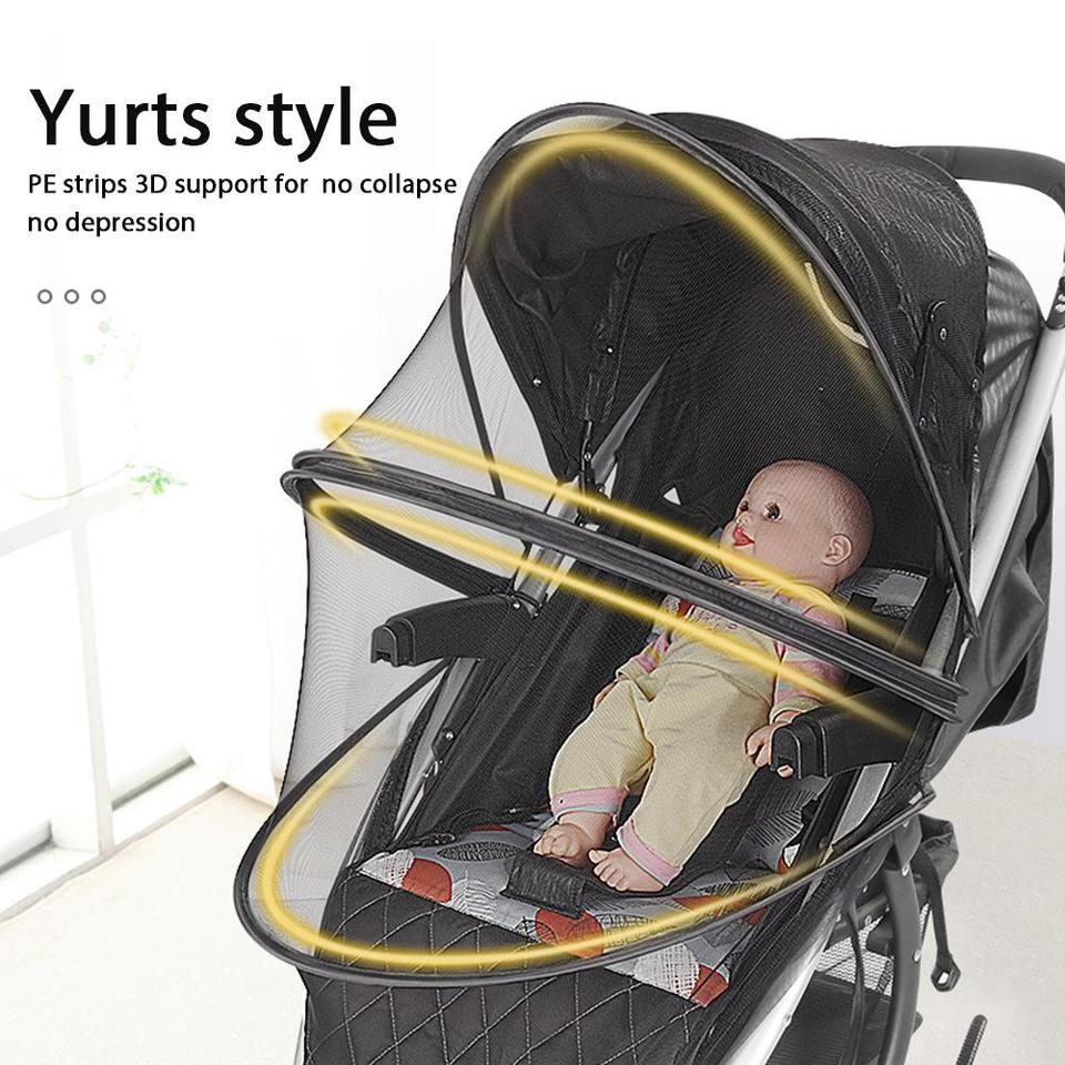 Car Seats Foldable Two-Way Zippered Mesh Mosquito Net Carriers Stylishbuy Baby Mosquito Net for Strollers