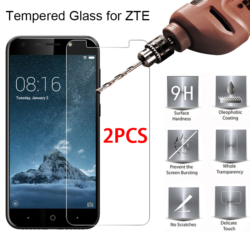 2PCS Toughed Protective Glass For ZTE V9 V10 Vita X3 X5 Clear Hard 9H Film Movie Tempered Glass For ZTE Blade V6 V7 V8 Lite Mini