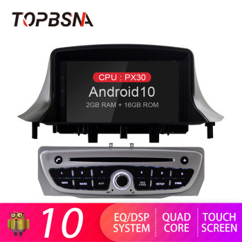 TOPBSNA Android 10 Car DVD Player For Renault Megane 3 Fluence 2009-2015 With WIFI GPS Radio Multimedia Steering Wheel Stereo SD image