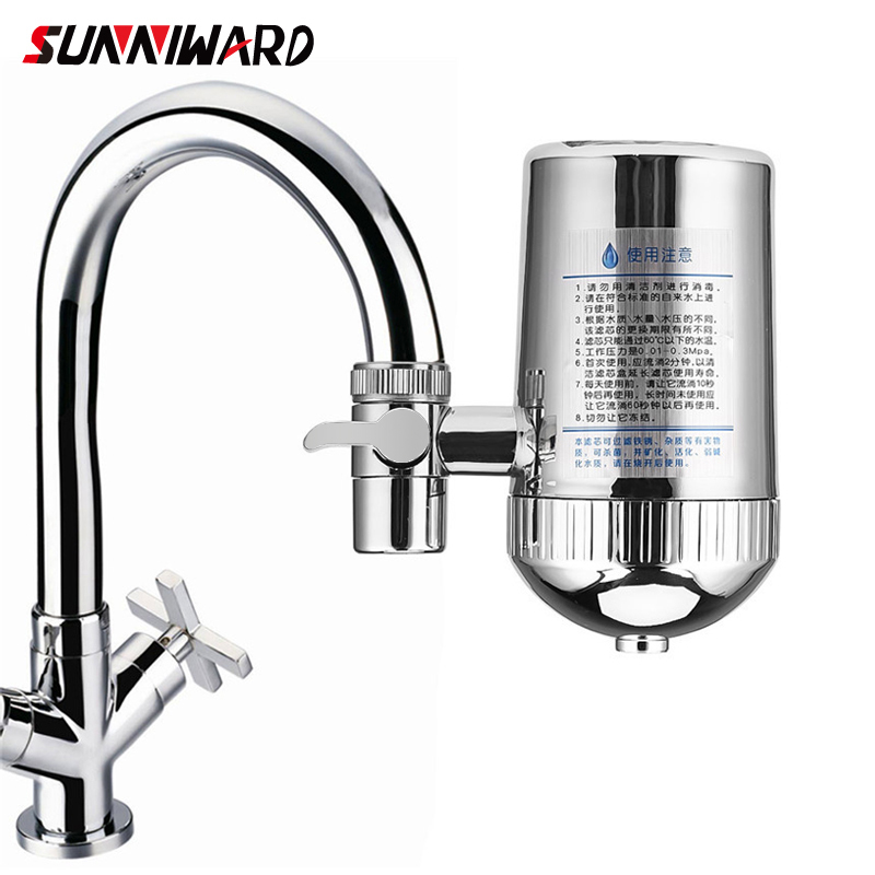 Stainless Steel Faucet Water Filter Mineral Stone Tap Water Purifier Kitchen Tap Water Filter Rust Removal Washable Filter 31
