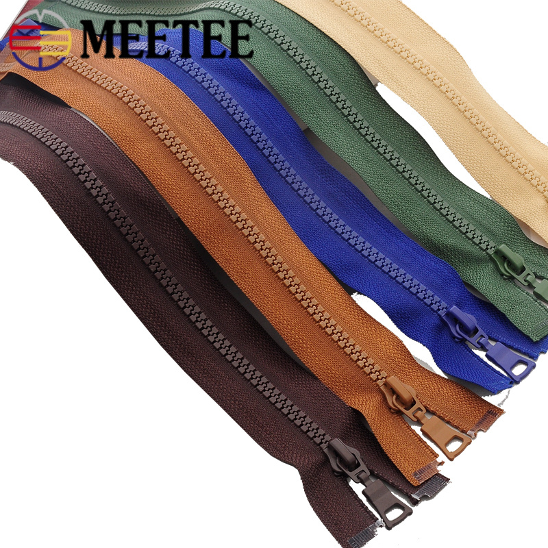 5pcs Meetee 5# Resin Zippers Close End 15-25cm Open 30-80cm Zip Closure Sewing Down Jacket Garment Bags Home Tailor Crafts