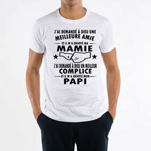 T camisa homme mamie papi grand pere grand mere