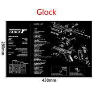 Ar15 ak47 arma de limpeza esteira de borracha com peças diagrama e instruções armorers banco tapete do mouse para glock sig p226 p229|Acessórios para armas de caça| |  -
