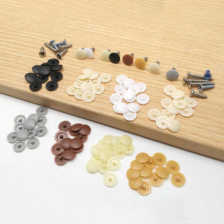 100 Pcs Plastik Praktis Sekrup Baut Cover Plug Sekrup Eksterior Tutup Pelindung Perangkat Perabot