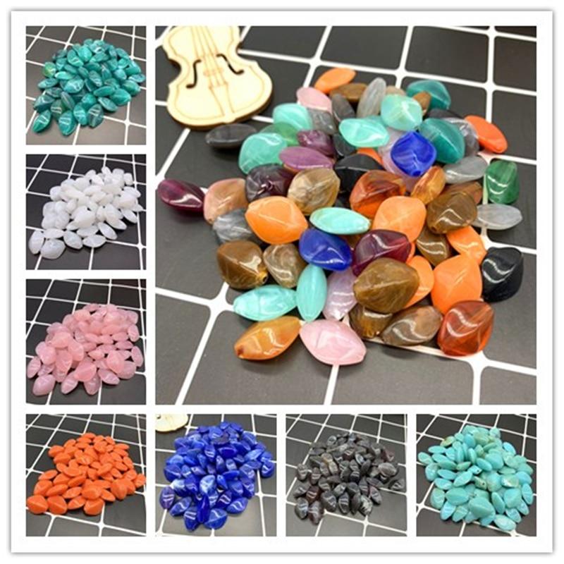20pcs 16x14mm  Rhombus Shape Beads Imitation Stone Beads For Jewelry Making Bracelet Pendant DIY