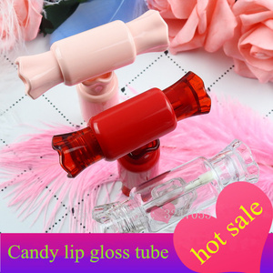 10/30/50/100 шт конфетная форма блеск для губ трубка пустые губы бальзам в бутылке кисть контейнер косметический инструмент многоразовые бутылк...