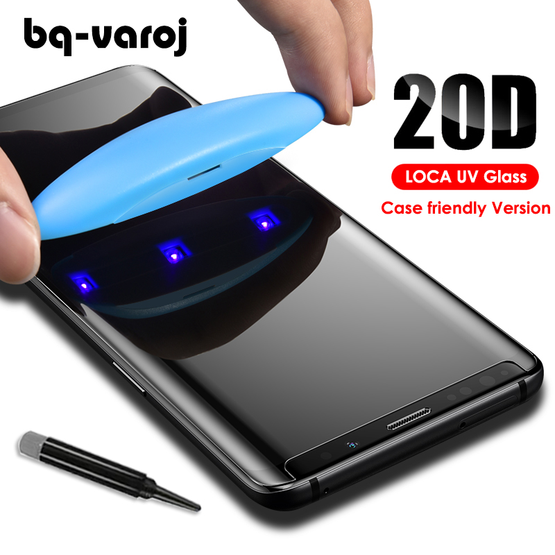 20D <font><b>tempered</b></font> <font><b>glass</b></font> for <font><b>Note</b></font> <font><b>9</b></font> UV <font><b>Glass</b></font> screen protector with LOCA tech for S6 7 8 <font><b>9</b></font> plus edge <font><b>full</b></font> <font><b>glue</b></font> <font><b>glass</b></font> case friendly film image