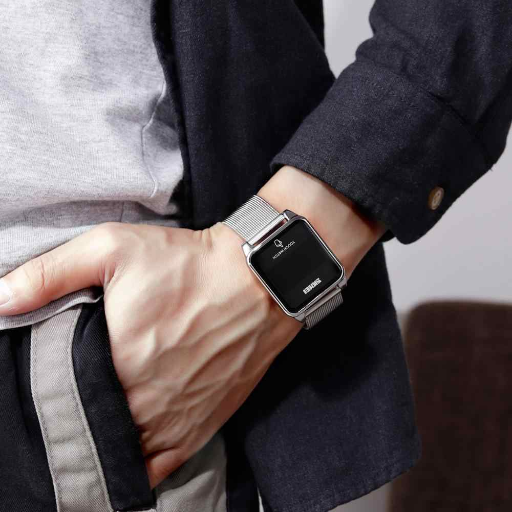 SKMEI Wasserdichte Männliche Armbanduhr LED Touch Screen Männer Digitale Uhren 2020 Top Marke Luxus herren Uhr Uhren Para Hombre 1532