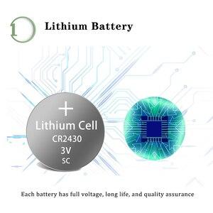Image 3 - 5 X PKCELL 3V CR2430 lityum pil DL2430 5011LC KCR2430 L20 hücre düğmesi sikke pil için izle elektronik