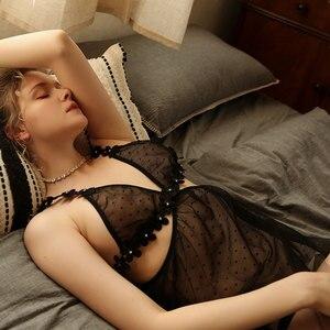 Image 5 - סקסי מוס רך נשים שינה ללבוש רקמת תחרה קצר חצאית לראות דרך פרחי נערה צעירה רשת שימוש חתונה סקסית ללא משענת