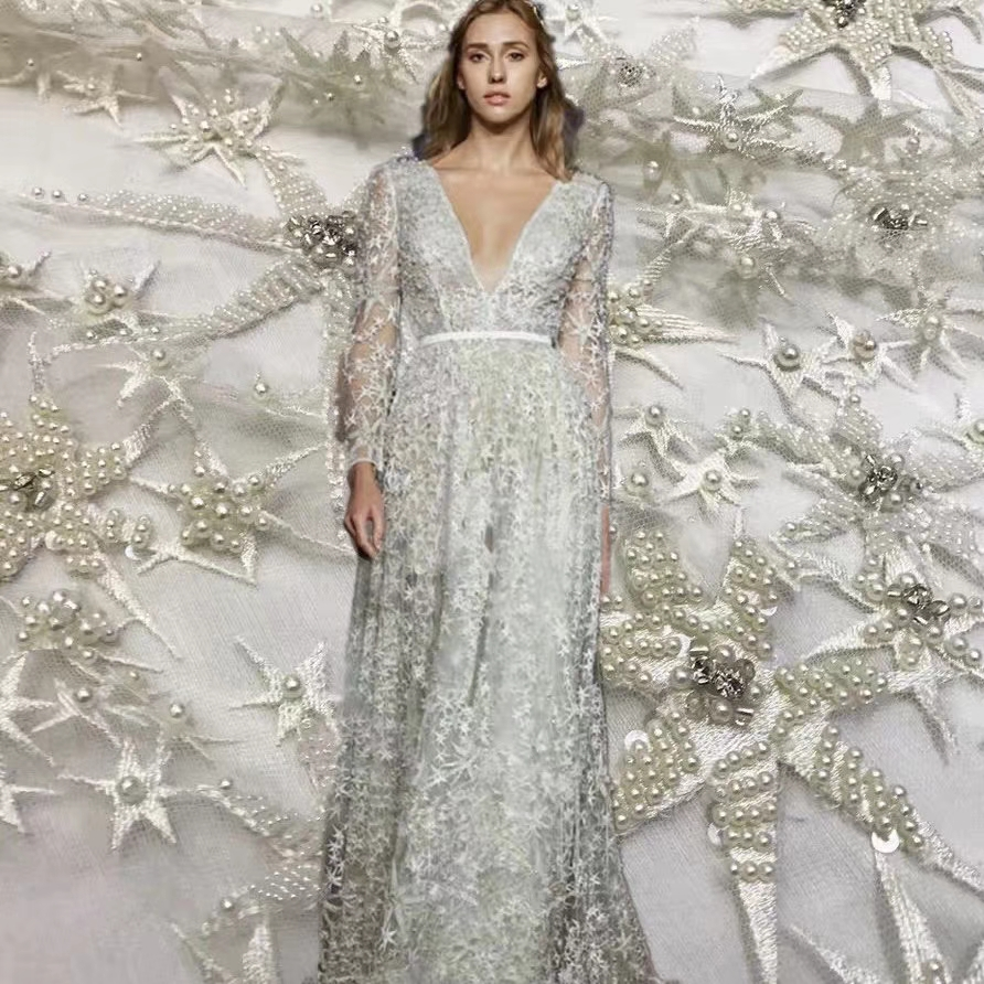 2019 New Custom Fashion Bespoke Evening Dress Attractive Stars Pattern Dress Made By Our Fabrics Price Is Not Real Price