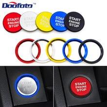 Novo botão de partida do motor do carro interruptor anel chave estilo do carro caso decoração capa interior acessórios para audi a4 a5 a7 q3 q5 q7