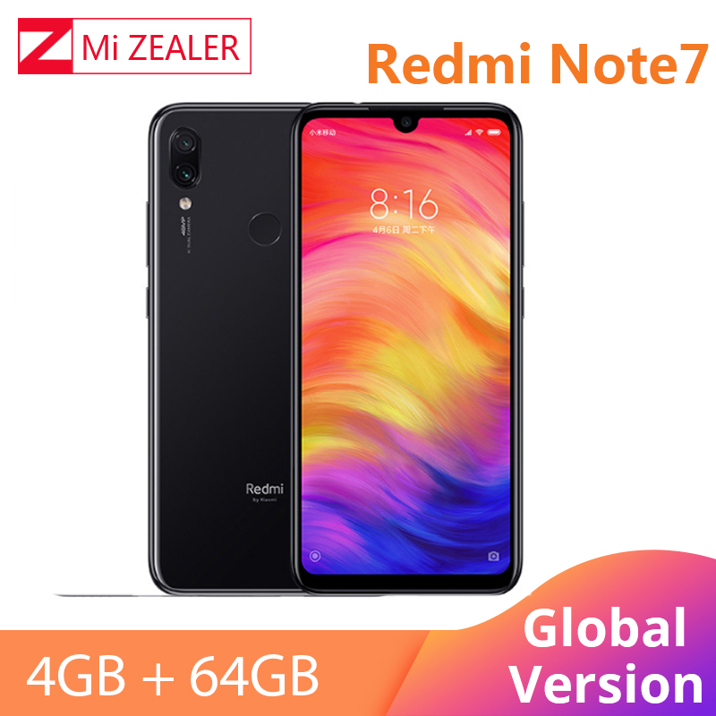Global Version Xiaomi Redmi Note 7 4GB 64GB Snapdragon 660 Octa Core 4000mAh 6.3 2340*1080 48MP+5MP Cellphone  Dual Cameras