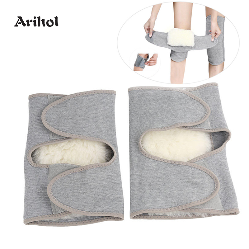 Winter Wool Knee Sleeve For Men Women Keep Warm Fleece Knee Brace Thermal Leg Warmers Sleeve Knee Support Outdoor Knee Pads