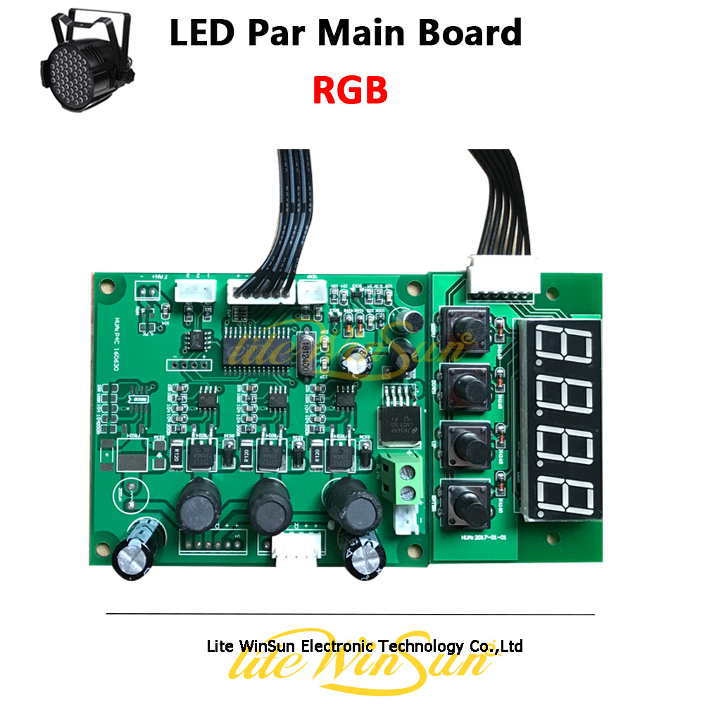 3IN1 4IN1 5IN1 6IN1 Motherboard For LED Par Light Tri Color Quad Color 54*3W 18*3W 24*18W Par LED Mainboard Display Board