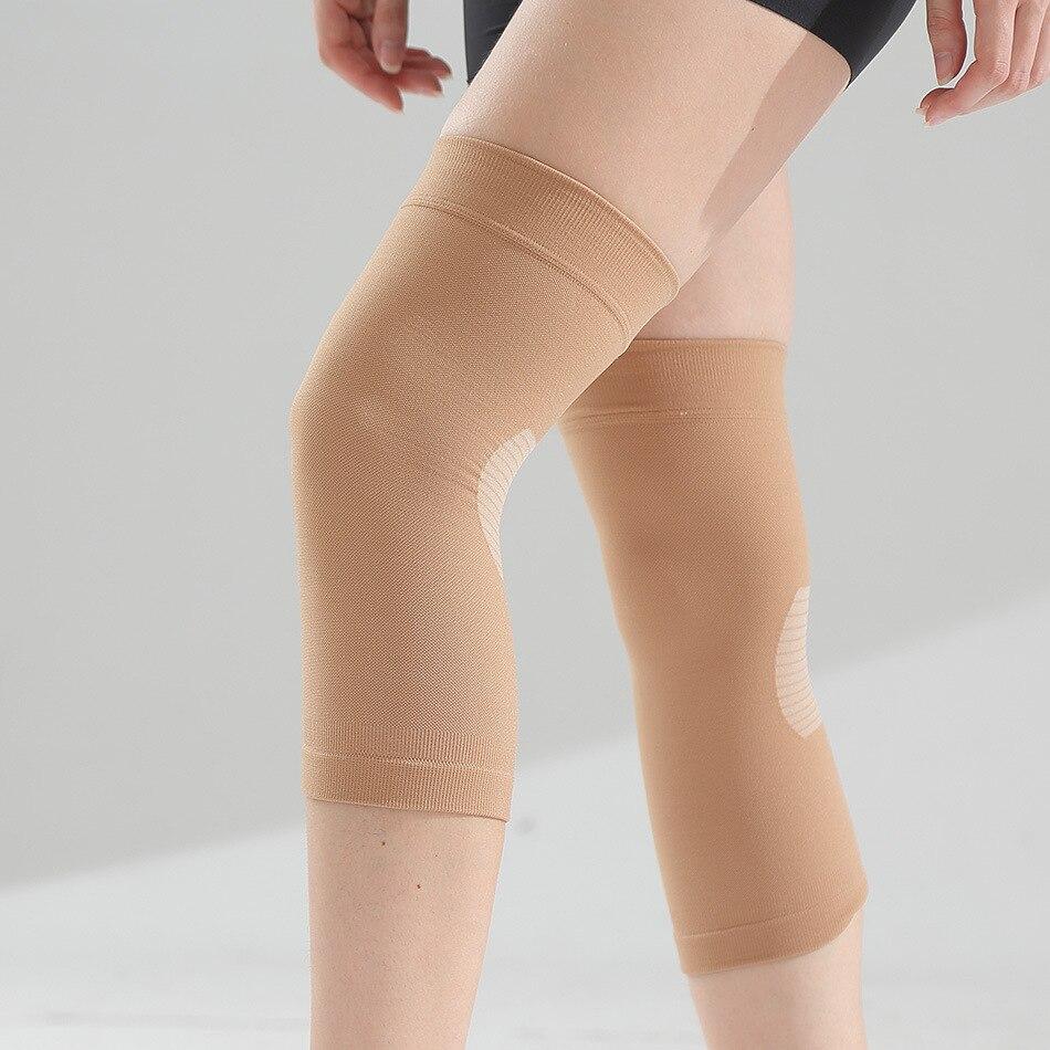Спортивные силиконовые наколенники 8 см для защиты от кожных суставов, теплые носки для защиты от травм для пожилых людей