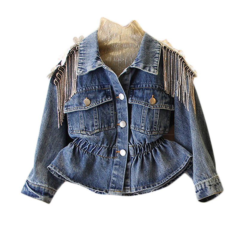 Ha610aa7e59fd4e298abfa2f534e79cd9V - NEW KId's Jean Jacket for Girls Cute Unicorn Coats Denim Jacket for Children Girls Clothes Jean Jackets For Toddler & Kids