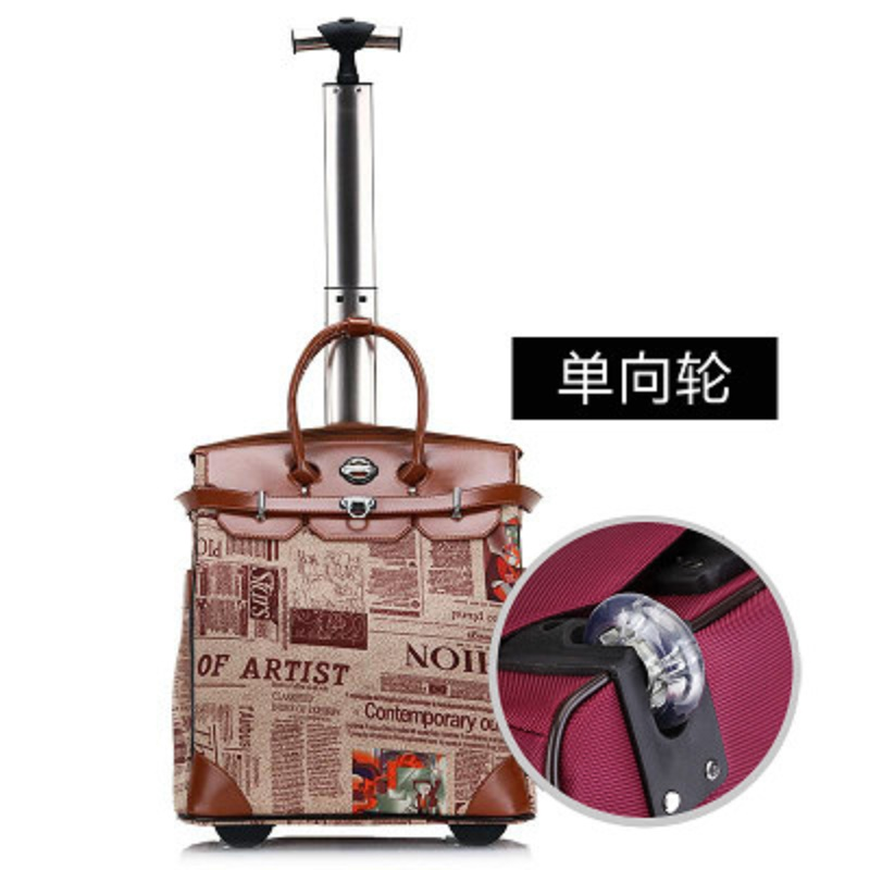 Easy Travel Portable Oxford Handbag  Can Board The Short Trip Rolling Luggage Spinner Brand Travel Suitcase