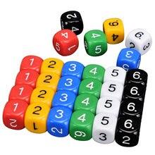 10 pcs conjuntos de dados multicolorido jogo de quebra-cabeça de dados enviar crianças 6 lados jogo engraçado