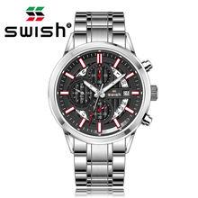 Роскошные серебряные военные часы swish для мужчин 2020 модные