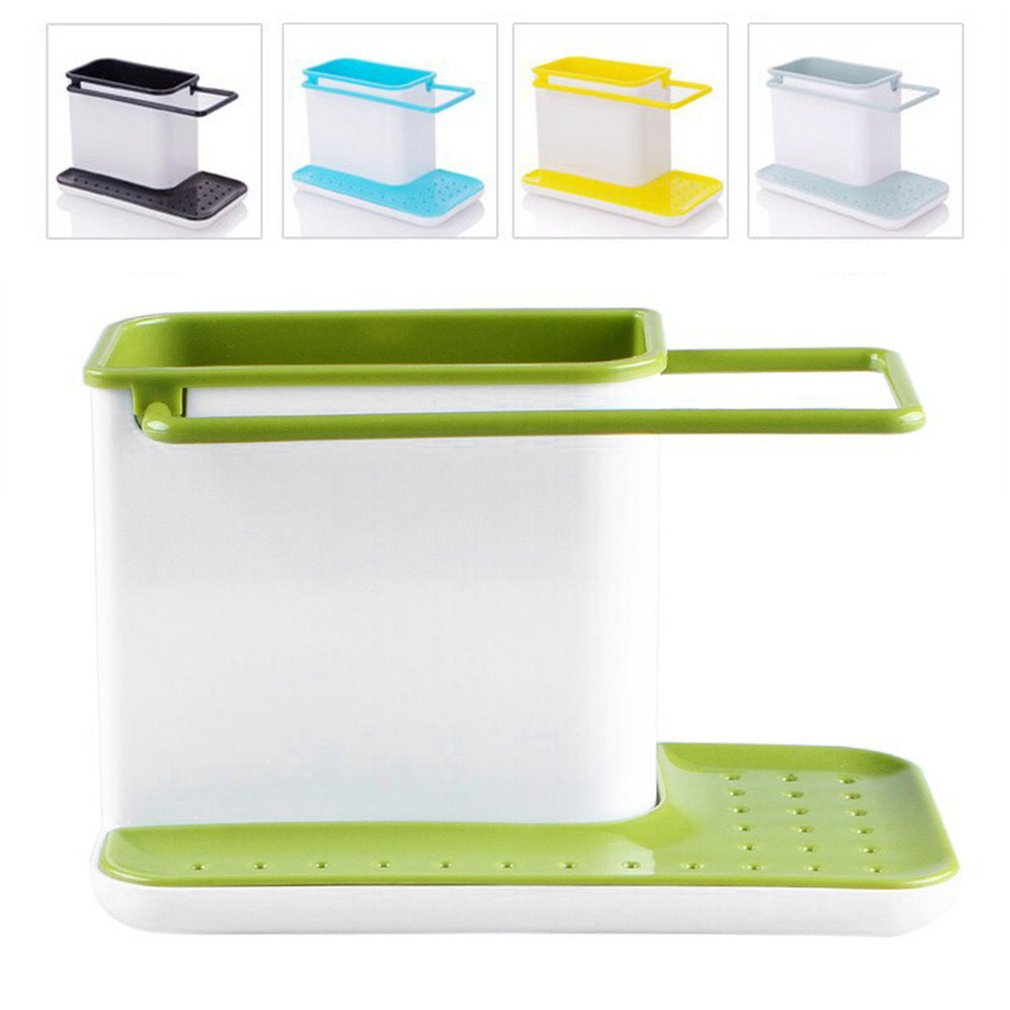 Plastic Racks Organizer Caddy Storage Kitchen Sink Utensils Holders Drainer Integrated Drainer Good Kitchen Tool