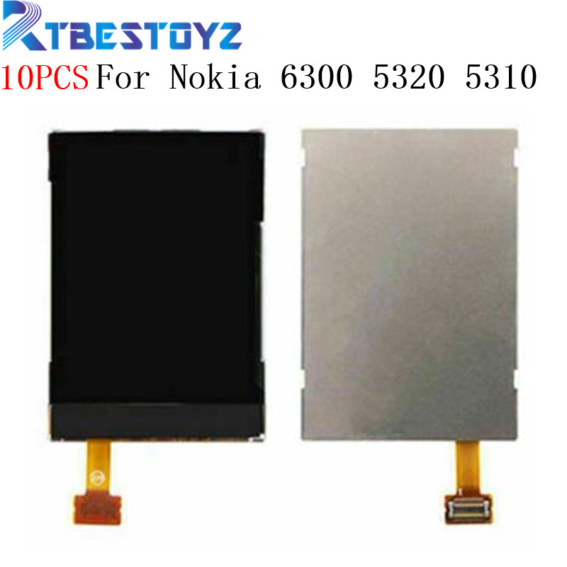 10PCS/Lot Black LCD Display <font><b>Screen</b></font> Replacement For <font><b>Nokia</b></font> 6300 5320 <font><b>5310</b></font> E51 3120C 6120c 6120 7610S 6500c 7500 8600 6301 LCD image