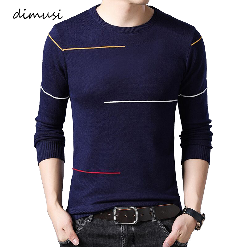 DIMUSI Autumn Winter Mens Sweater Casual Turtleneck Solid Color Sweater Men's Slim Fit Brand Knitted Pullovers Clothing 4XL
